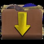 Steampunk-Victorian Downloads Folder Icon