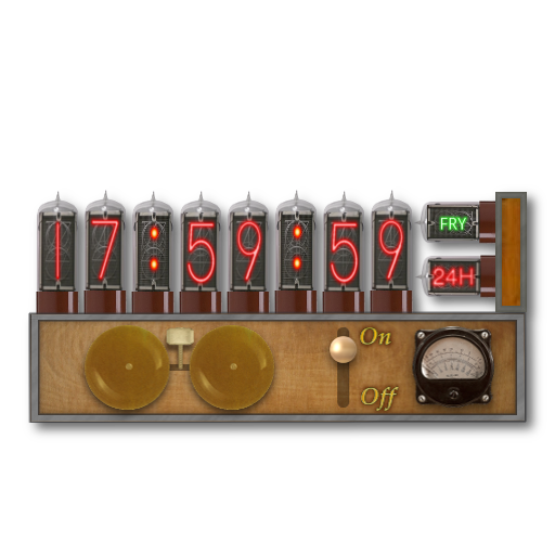 Nixie Steampunk Clock-Calendar Screenlet Mk2 by pendragon1966