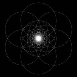 Seed of Life Fractal 4 by Joshua-J-Whitworth