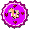 Squirrel Bottlecap by DandiBooks315