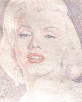 Marilyn Monroe drawing by S. Fairbanks