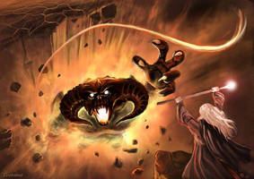LOTR - Gandalf and the Balrog by Evolvana