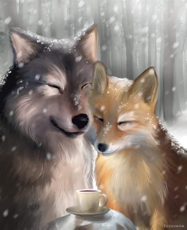 Kiriban - The Wolf and the Fox by Evolvana