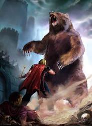 Jaime and Brienne - The Bear of Harrenhal by Evolvana