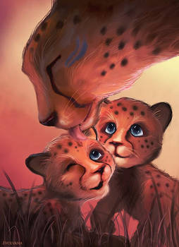 Cheetah family kiriban