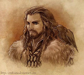 Thorin Oakenshield portrait by Evolvana