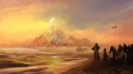 Erebor the lonely mountain by Evolvana