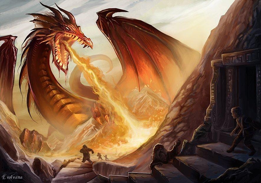Smaug the dragon by Evolvana