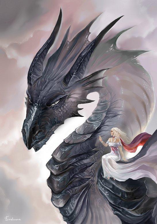 Daenerys and Drogon by Evolvana