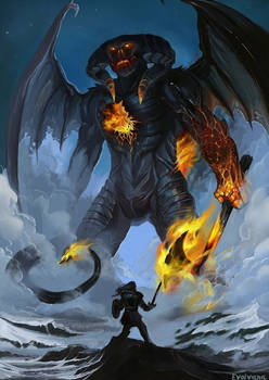 Feanor against the Lord of Balrogs