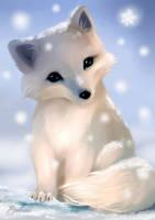 Chibi Arctic Fox by Evolvana