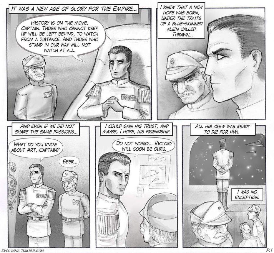 Thrawn comic strip - Glorious days - p.1 by Evolvana