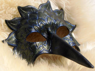 Raven leather mask by bezidesigns