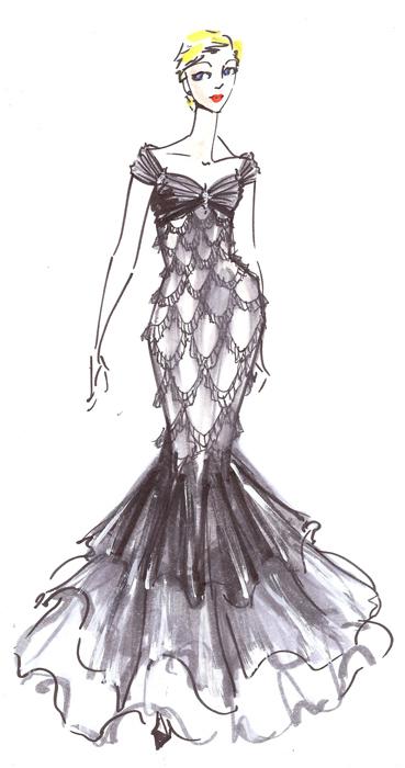 Black Mermaid Gown By Summergray On DeviantArt