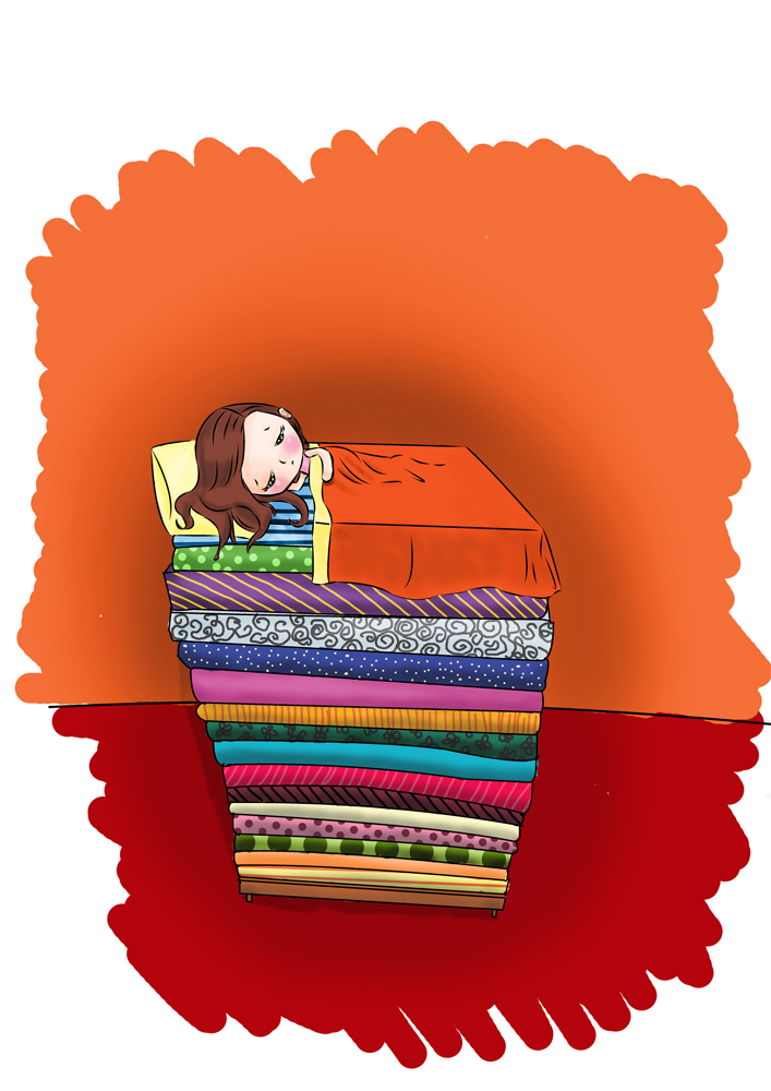 The Princess and the Pea by dinkydivas