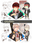 [2/2 OPEN] Set Price Adoptable Highschool Boys by shimarurun
