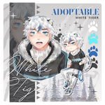 [OPEN] Set Price Adoptable Kemonomimi White Tiger by shimarurun