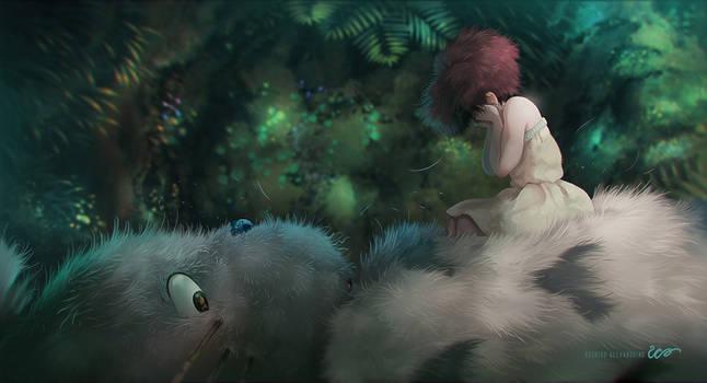 Totoro Paint Over