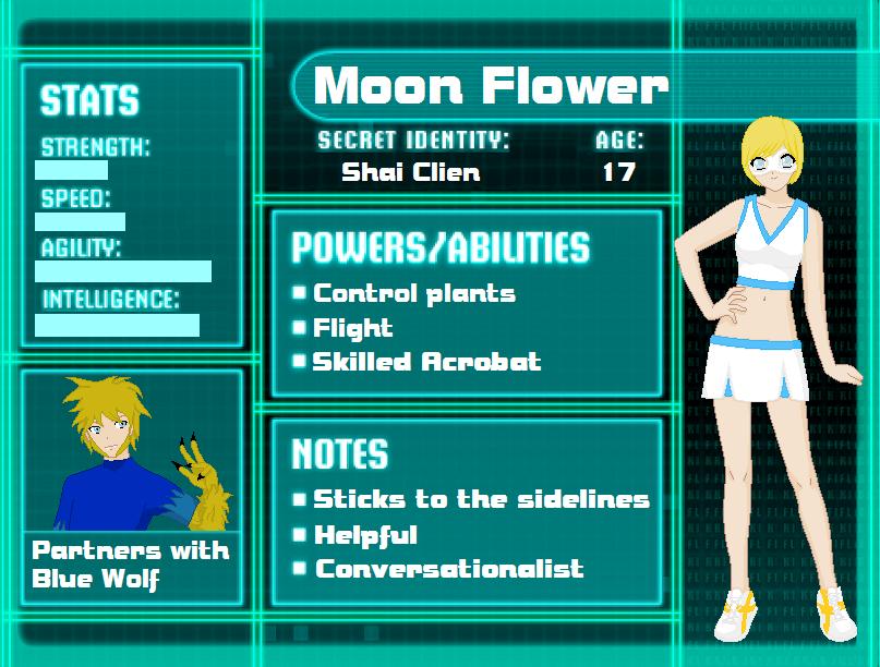 Moon Flower Superhero OC 306492297 on Flower Template To Color