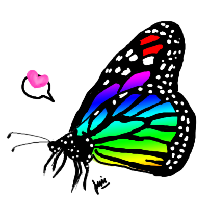 Rainbow Monarch Butterfly by jessay-bunnybee on DeviantArt