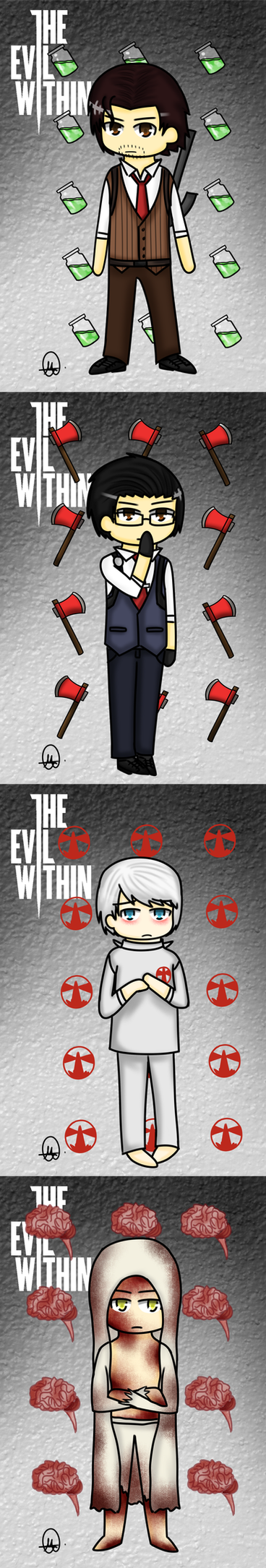 The Evil Within Characters by Therapii