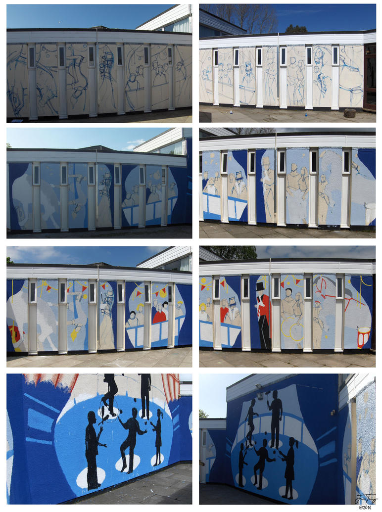 Circus mural in progress by jyoung82 on deviantart for Circus wall mural