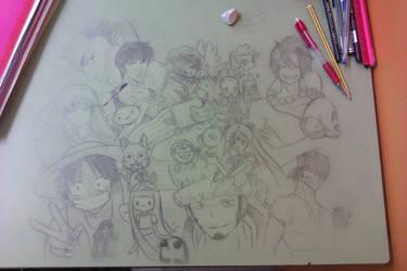 Draw in school by DeathNolita