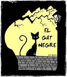Commission 'El Gat Negre' Logo by DeathNolita