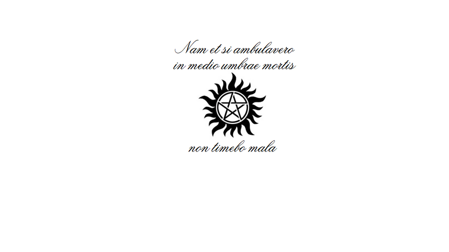 Supernatural Symbols The Symbol Was Never Designed As A Symbol Of