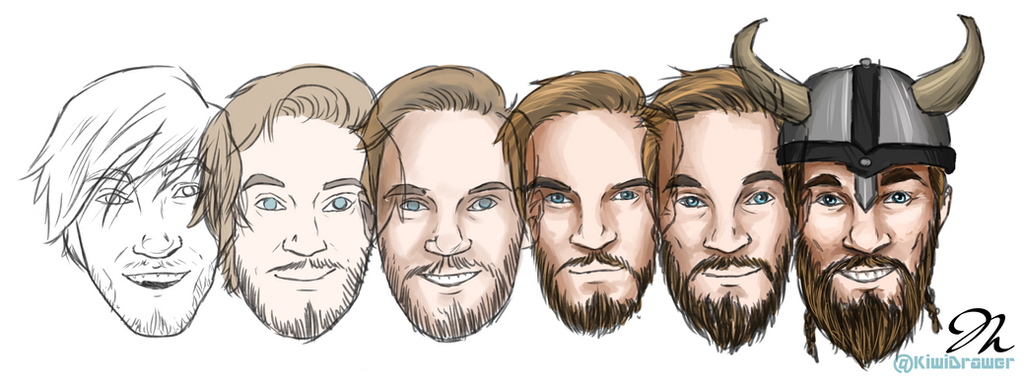 Pewdiepie Evolution! by chaos-walking59