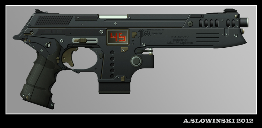 M-2189 Diplomat Machine Pistol by BlackDonner on DeviantArt