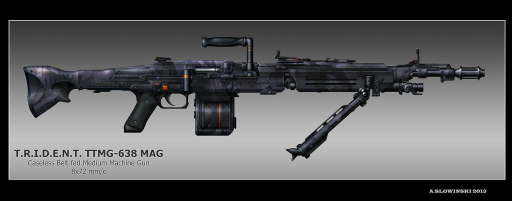 Maschinegewehr 42 Wallpaper: TTMG-638 MAG By BlackDonner On DeviantArt