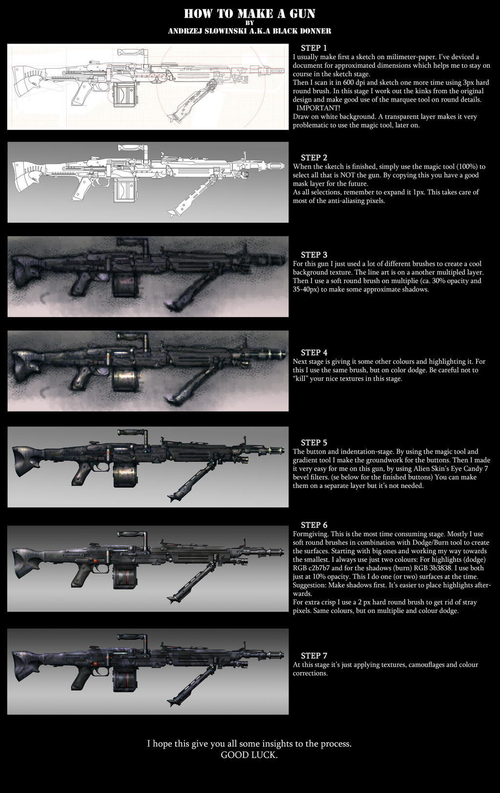 How to make a gun - Step by step by BlackDonner