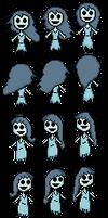 Spooky (S.J.M) - Sprite Sheet (pixel art)