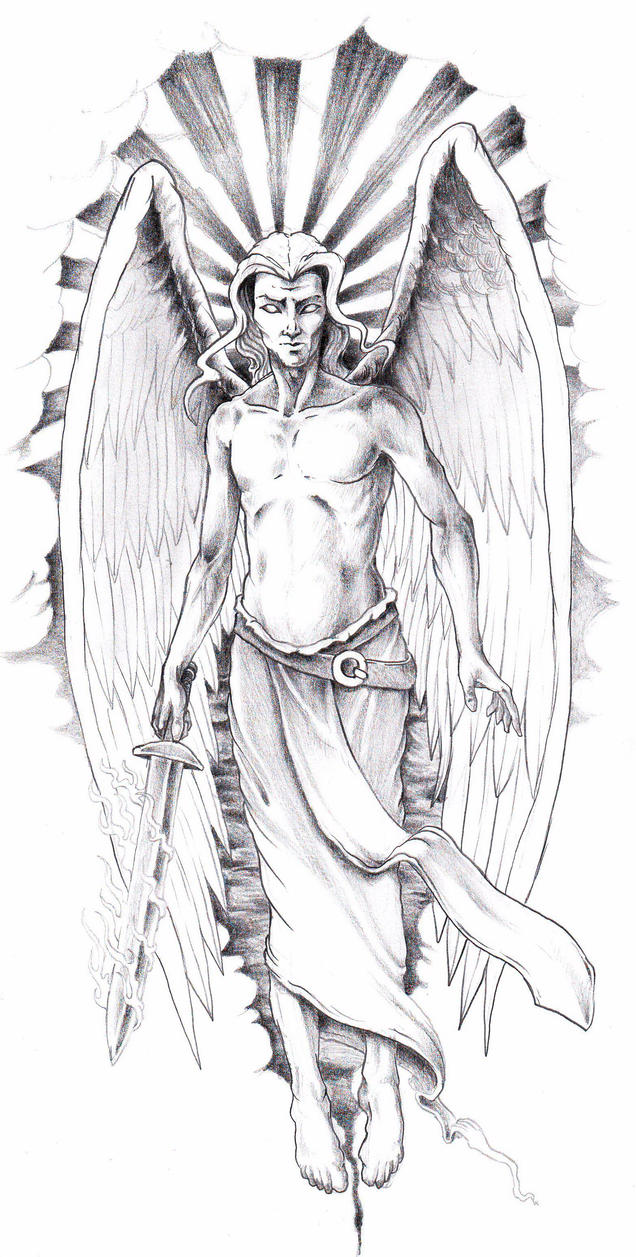 Эскизы для тату архангел