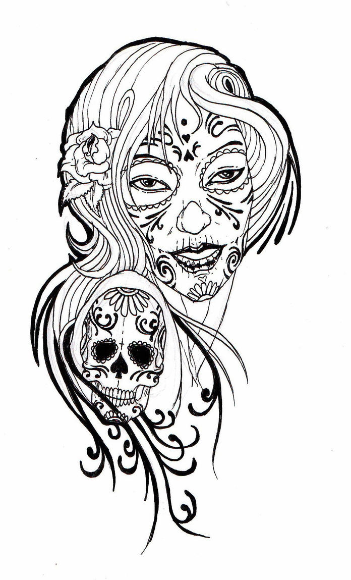Two Hearts Tattoo in addition Clown Fish Clipart in addition Contour De Grand Requin Blanc likewise Sugar Skull Lady 02 164680877 moreover 23151385561517983. on animal shapes outlines