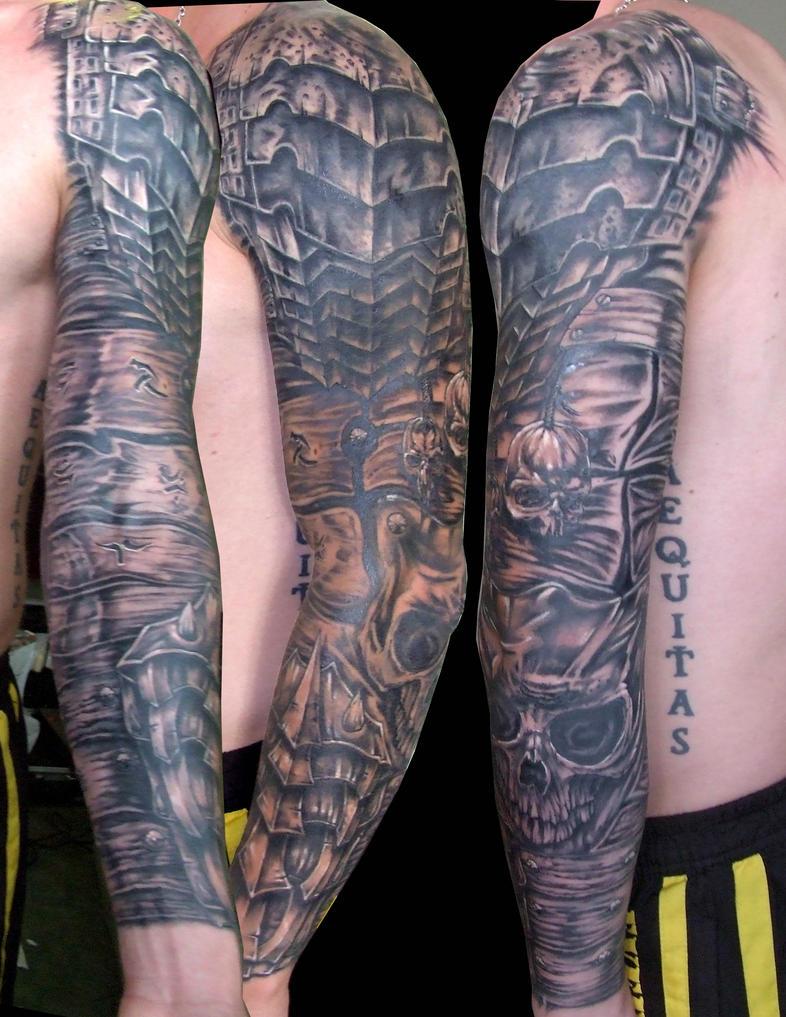 Knight Armor Tattoo Sleeve Medieval Armor Tattoos Roman
