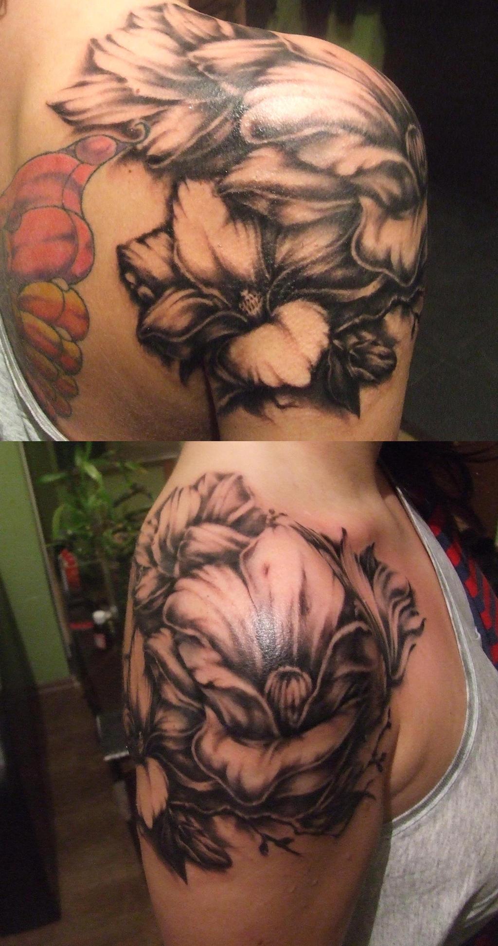 flowers tattoo by zioman on DeviantArt