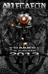 Allegaeon Sumer Slaughter 2013 Tour Poster by animussemideus