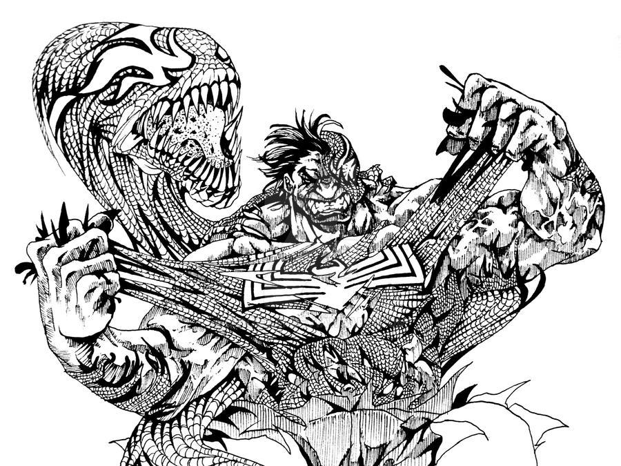Hulk Vs Venom Coloring Pages