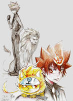 Tsuna and Nuts by Dodus-Taichou