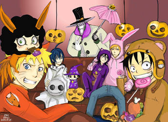 Crossover Halloween 2010 by Dodus-Taichou