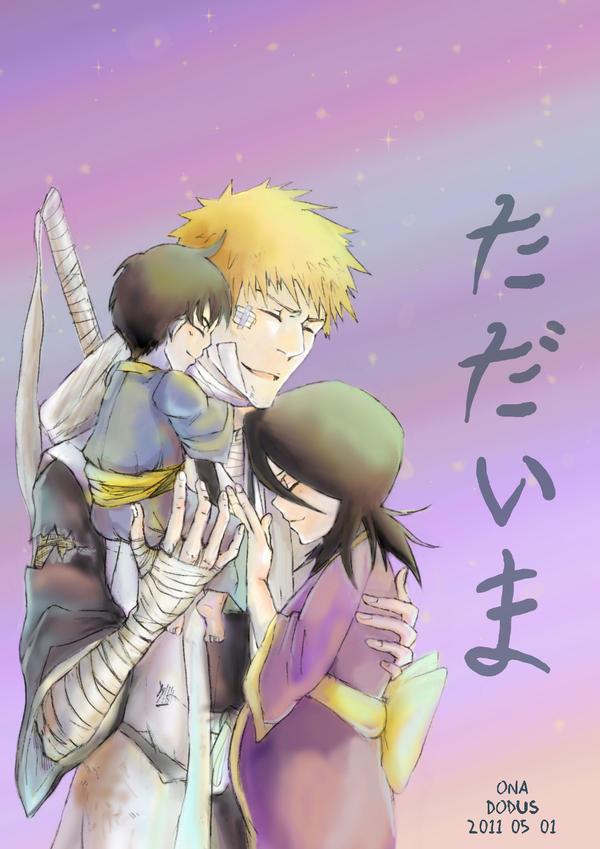 Ichigo And Rukia Baby Tadaima by Dodus-Taich...