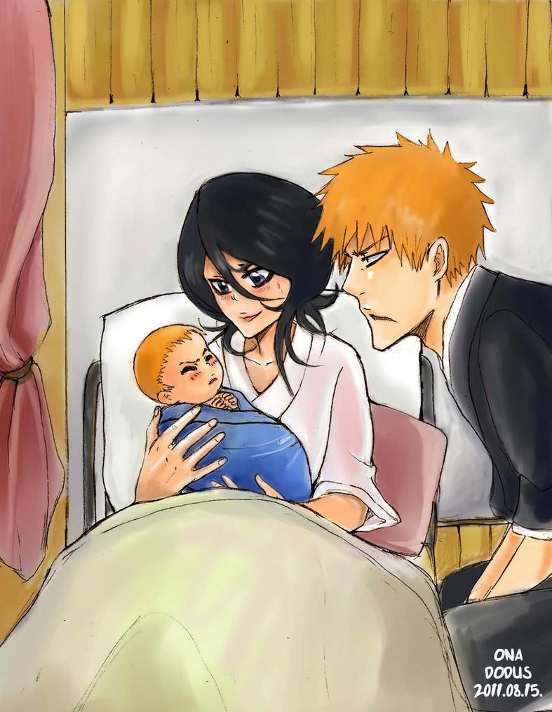 Ichigo And Rukia Baby The new born by Dodus-...