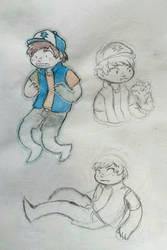 ghost!dipper doodles by robotanlst