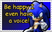 Sonic's Voice Stamp by MsLunarUmbreon