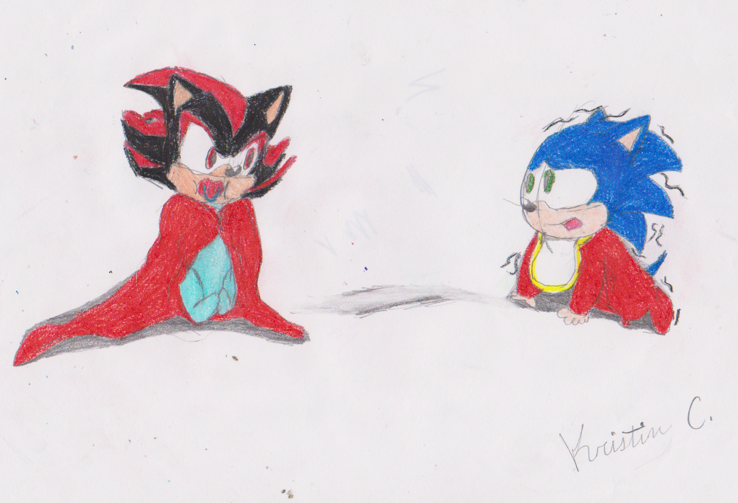 Baby Sonic And Shadow Not Sharing By Mslunarumbreon On Deviantart