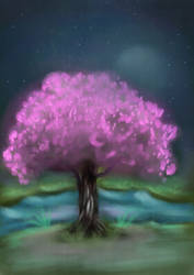 Cherry Tree speedpaint by RoninAway