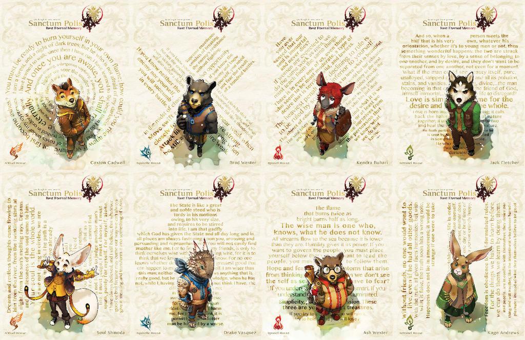 The Cast Of Sanctum Polis - Rest Eternal Memory by sanctumpolis