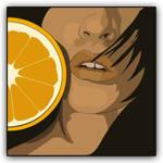 Vexel Art - Orange Girl